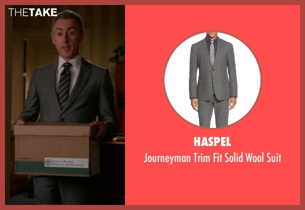 Haspel gray suit from The Good Wife seen with Eli Gold (Alan Cumming)