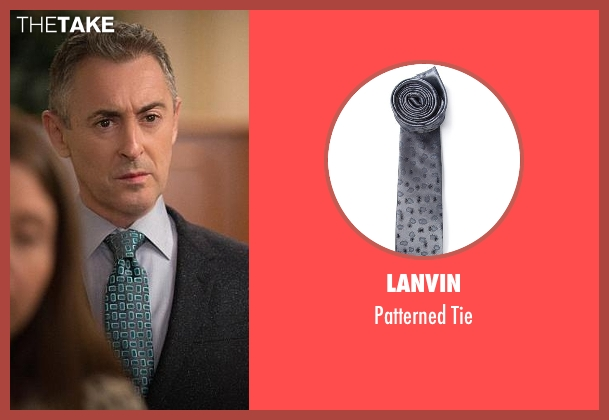Lanvin gray tie from The Good Wife seen with Eli Gold (Alan Cumming)