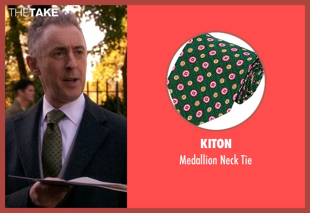 Kiton green tie from The Good Wife seen with Eli Gold (Alan Cumming)
