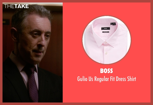 Boss pink shirt from The Good Wife seen with Eli Gold (Alan Cumming)