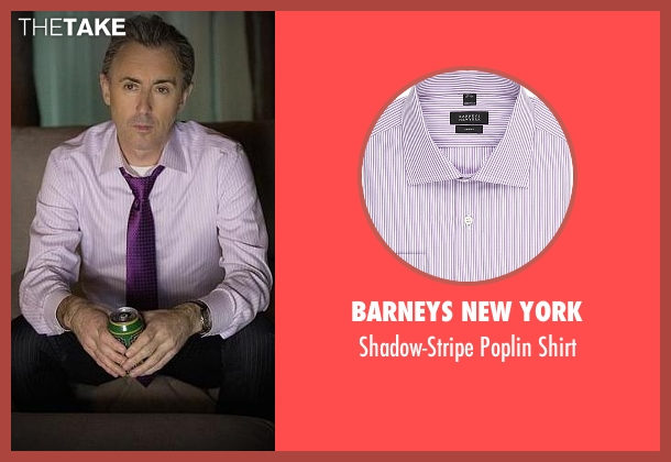 Barneys New York purple shirt from The Good Wife seen with Eli Gold (Alan Cumming)