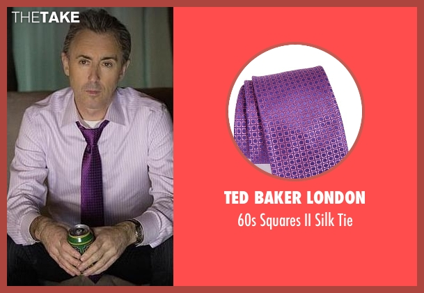 Ted Baker London purple tie from The Good Wife seen with Eli Gold (Alan Cumming)