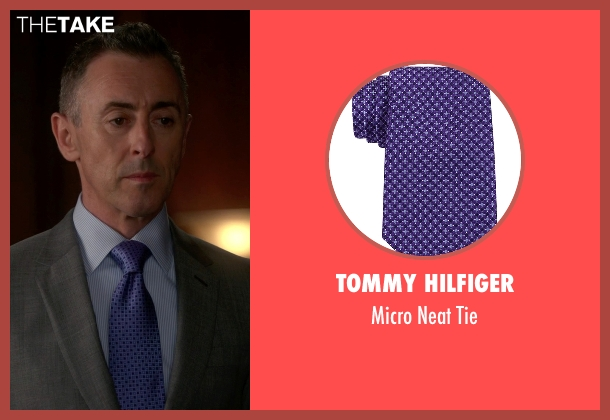 Tommy Hilfiger purple tie from The Good Wife seen with Eli Gold (Alan Cumming)