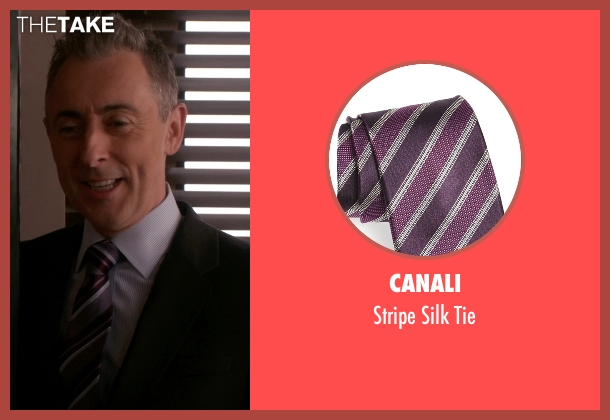 Canali purple tie from The Good Wife seen with Eli Gold (Alan Cumming)