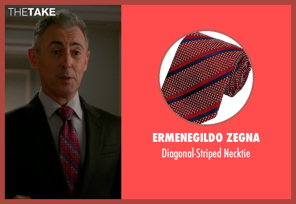 Ermenegildo Zegna red necktie from The Good Wife seen with Eli Gold (Alan Cumming)