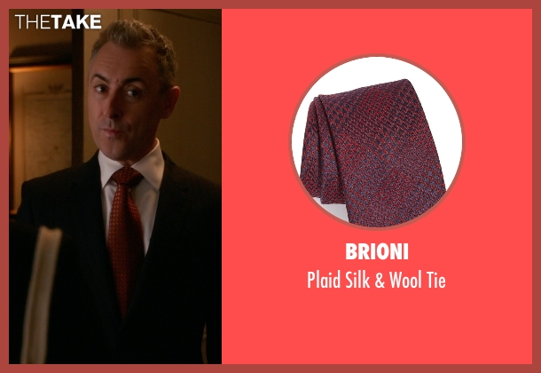 Brioni red tie from The Good Wife seen with Eli Gold (Alan Cumming)