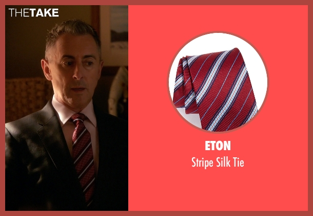Eton red tie from The Good Wife seen with Eli Gold (Alan Cumming)