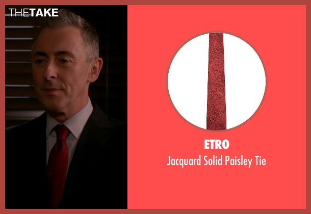 Etro red tie from The Good Wife seen with Eli Gold (Alan Cumming)