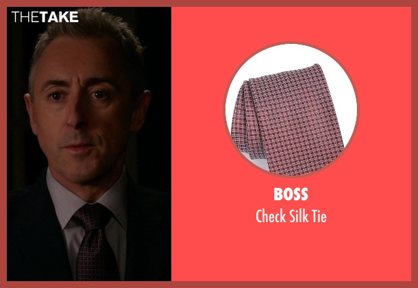 Boss red tie from The Good Wife seen with Eli Gold (Alan Cumming)