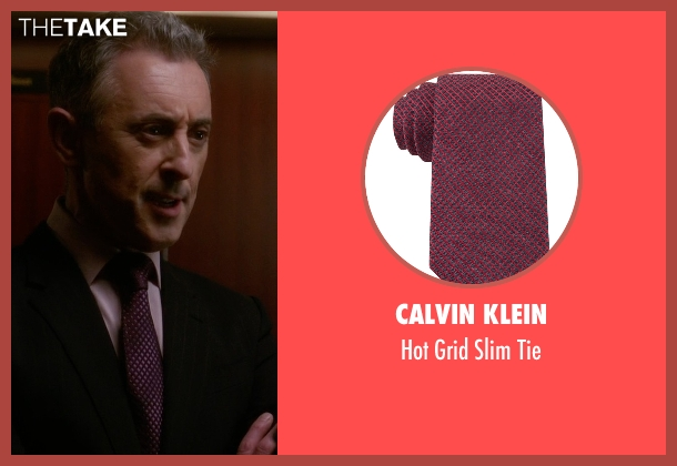 Calvin Klein red tie from The Good Wife seen with Eli Gold (Alan Cumming)