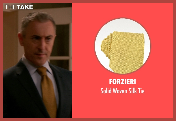 Forzieri yellow tie from The Good Wife seen with Eli Gold (Alan Cumming)