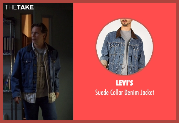 Levi's blue jacket from The Blacklist seen with Eli Matchett (Don Harvey)