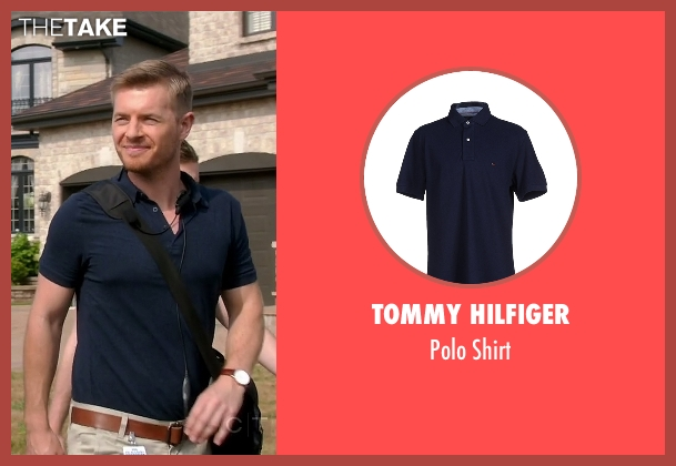 Tommy Hilfiger blue shirt from Quantico seen with Elias Harper  (Rick Cosnett)