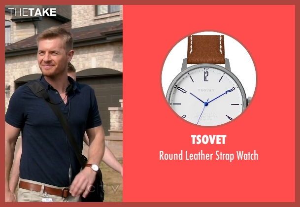 TSOVET brown watch from Quantico seen with Elias Harper  (Rick Cosnett)