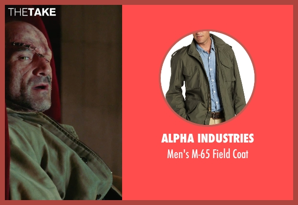 Alpha Industries green coat from Shutter Island seen with Elias Koteas (Laeddis)