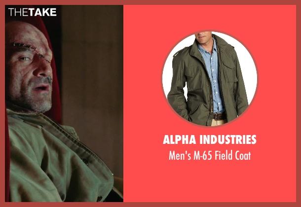 Alpha Industries green coat from Shutter Island seen with Elias Koteas (Laeddis)