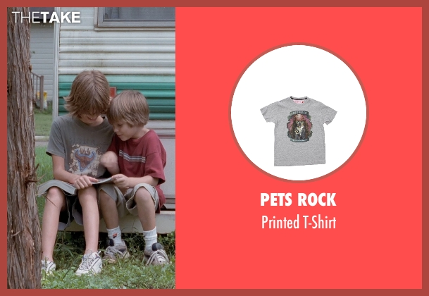 Pets Rock gray t-shirt from Boyhood seen with Elijah Smith (Tommy)