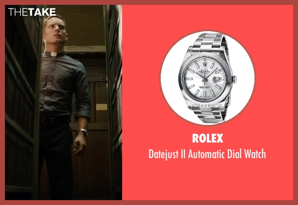 Rolex silver watch from The Last Witch Hunter seen with Elijah Wood (Dolan)