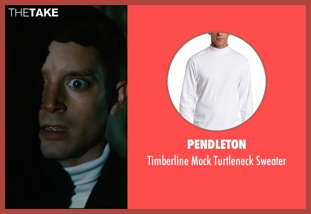Pendleton white sweater from The Last Witch Hunter seen with Elijah Wood (Dolan)