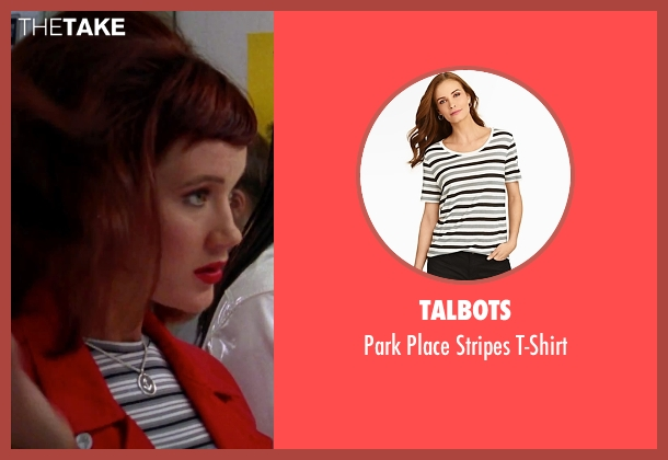 Talbots gray t-shirt from Clueless seen with Elisa Donovan (Amber)