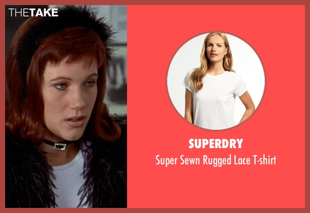 Superdry white t-shirt from Clueless seen with Elisa Donovan (Amber)
