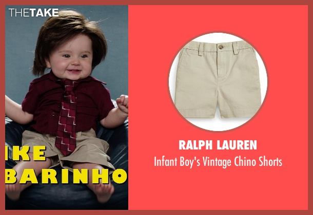 Ralph Lauren beige shorts from Neighbors seen with Elise Vargas (Stella)