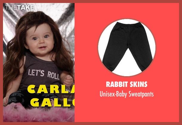 Rabbit Skins black sweatpants from Neighbors seen with Elise Vargas (Stella)