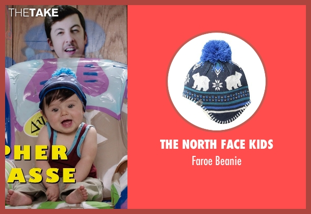 The North Face Kids blue beanie from Neighbors seen with Elise Vargas (Stella)