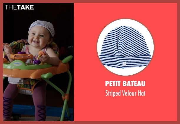 Petit Bateau blue hat from Neighbors seen with Elise Vargas (Stella)