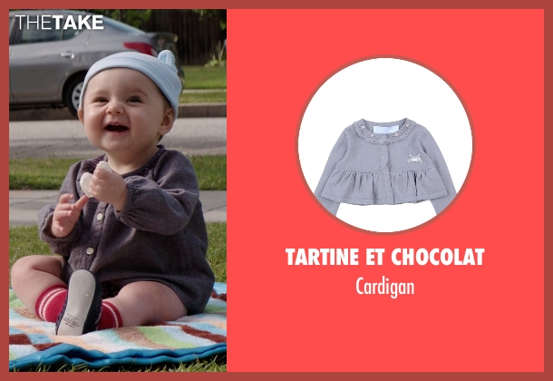 Tartine Et Chocolat gray cardigan from Neighbors