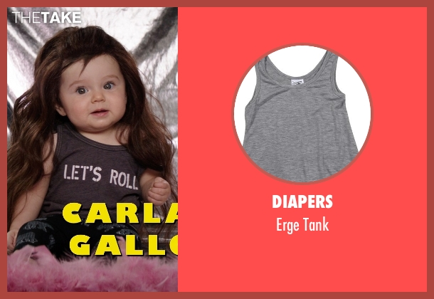 Diapers gray tank from Neighbors seen with Elise Vargas (Stella)