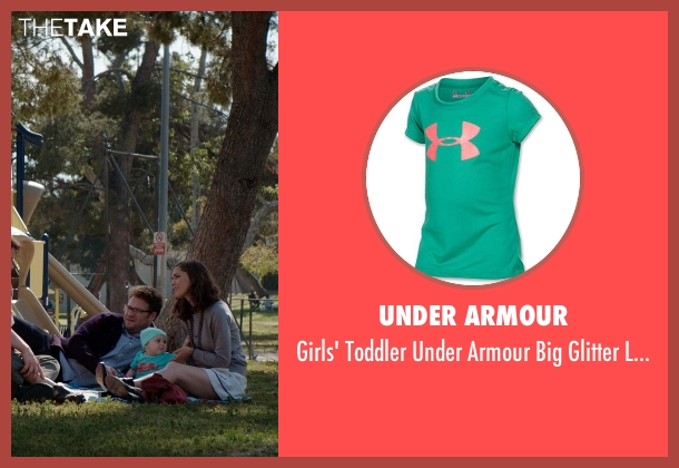 Under Armour green t-shirt from Neighbors seen with Elise Vargas (Stella)
