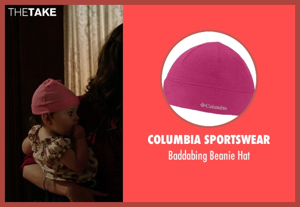 Columbia Sportswear pink hat from Neighbors seen with Elise Vargas (Stella)