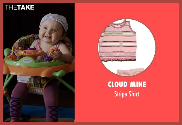 Cloud Mine pink shirt from Neighbors seen with Elise Vargas (Stella)