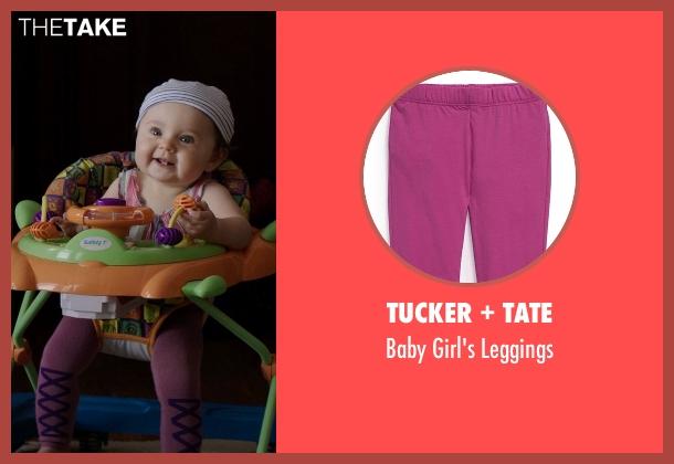 Tucker + Tate purple leggings from Neighbors seen with Elise Vargas (Stella)