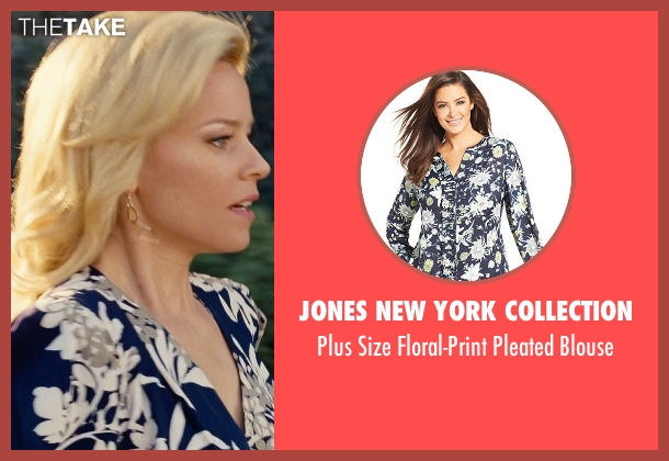 Jones New York Collection blue blouse from Love & Mercy seen with Elizabeth Banks (Melinda Ledbetter)