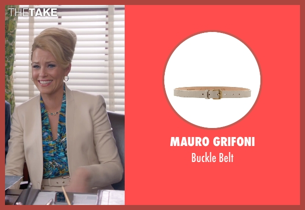 Mauro Grifoni beige belt from Pitch Perfect 2 seen with Elizabeth Banks (Gail)