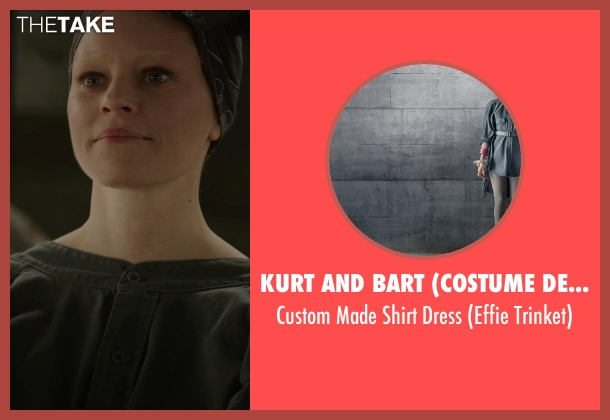 Kurt and Bart (Costume Designer) black dress from The Hunger Games: Mockingjay Part 1 seen with Elizabeth Banks (Effie Trinkett)