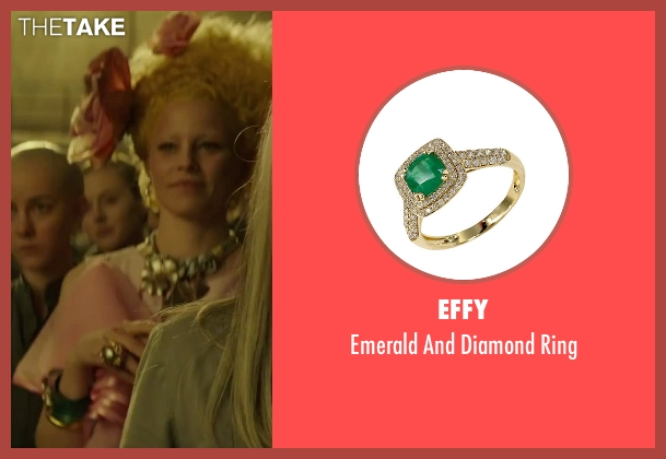 Effy green ring from The Hunger Games: Mockingjay - Part 2 seen with Elizabeth Banks (Effie Trinkett)