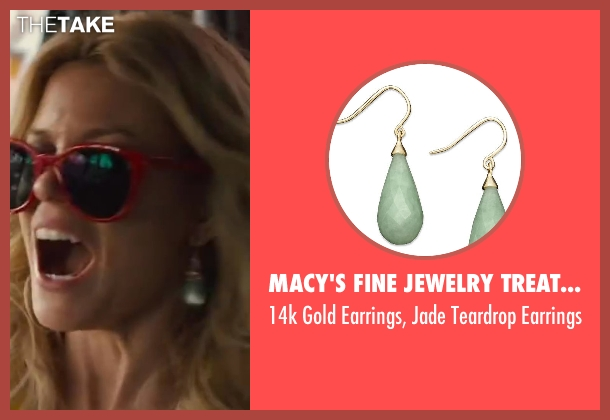 MACY'S FINE JEWELRY TREATMENT & CARE earrings from Walk of Shame seen with Elizabeth Banks (Meghan Miles)