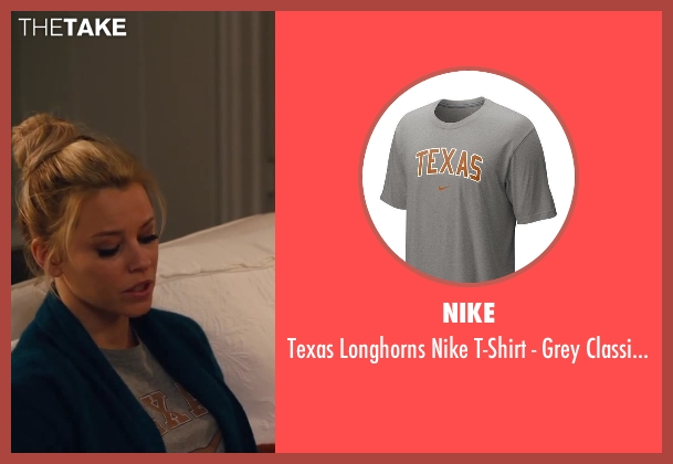 NIKE gray tee from Walk of Shame seen with Elizabeth Banks (Meghan Miles)