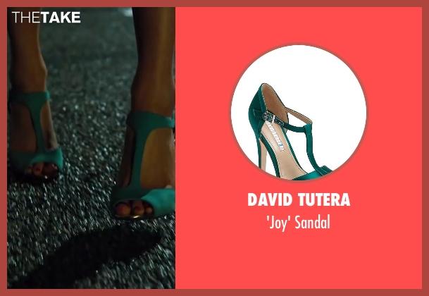 DAVID TUTERA green sandal from Walk of Shame seen with Elizabeth Banks (Meghan Miles)