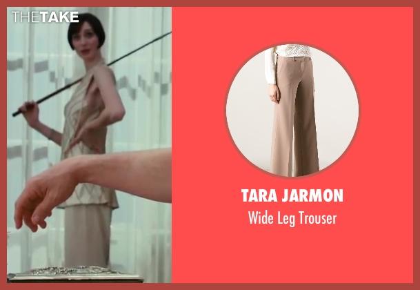 Tara Jarmon beige trouser from The Great Gatsby seen with Elizabeth Debicki (Jordan Baker)