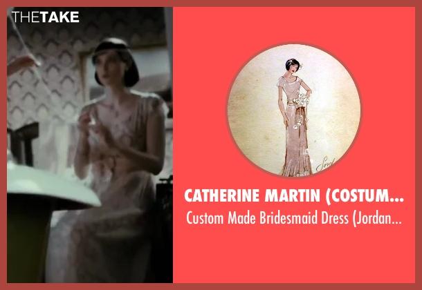 Catherine Martin (Costume Designer) white dress from The Great Gatsby seen with Elizabeth Debicki (Jordan Baker)