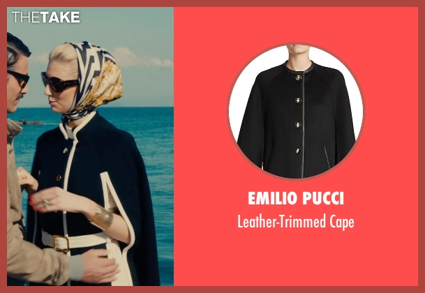 Emilio Pucci black cape from The Man from U.N.C.L.E. seen with Elizabeth Debicki (Victoria Vinciguerra)