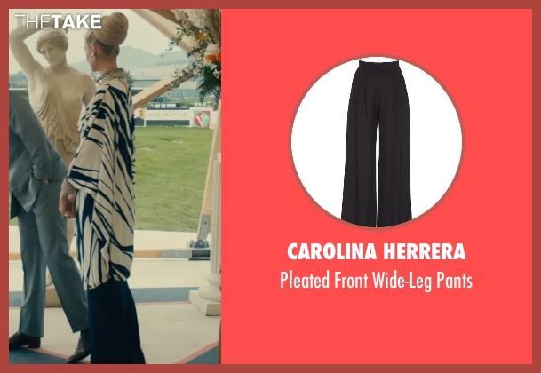 Carolina Herrera black pants from The Man from U.N.C.L.E. seen with Elizabeth Debicki (Victoria Vinciguerra)