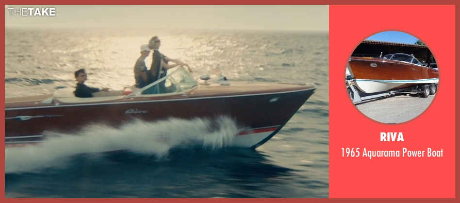 Riva boat from The Man from U.N.C.L.E. seen with Elizabeth Debicki (Victoria Vinciguerra)