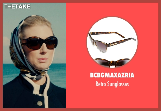 BCBGMAXAZRIA brown sunglasses from The Man from U.N.C.L.E. seen with Elizabeth Debicki (Victoria Vinciguerra)