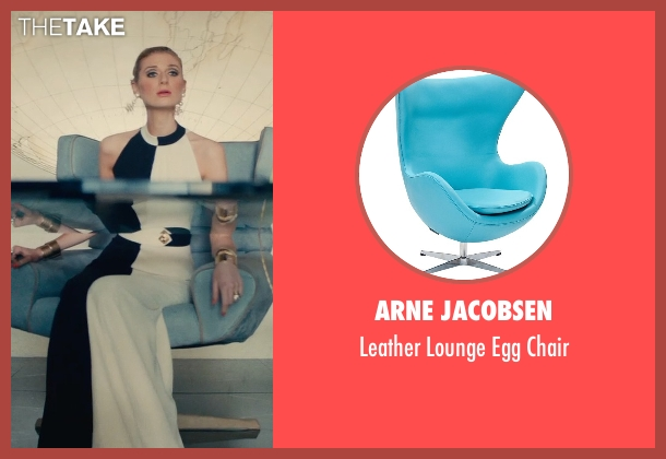 Arne Jacobsen chair from The Man from U.N.C.L.E. seen with Elizabeth Debicki (Victoria Vinciguerra)