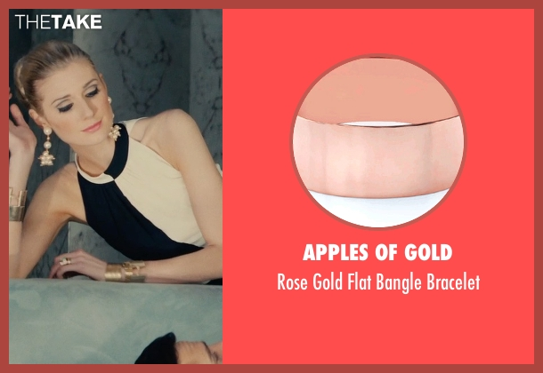 Apples of Gold gold bracelet from The Man from U.N.C.L.E. seen with Elizabeth Debicki (Victoria Vinciguerra)